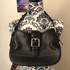 Coach small leather black purse